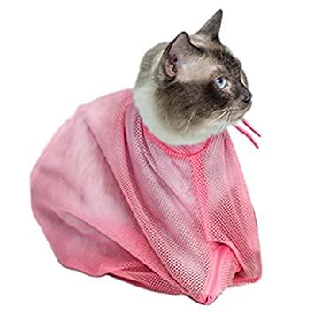 洗濯ネットに入った猫|八戸市のやすだ動物病院
